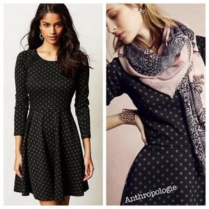 🌸❤️Anthropologie lace framed polka dot dress ❤️